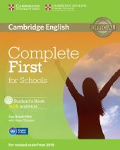Complete First for Schools Student's Book with answers + CD