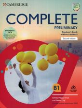 Complete Preliminary Student's Book Pack (SB wo Answers w Online Practice and WB wo Answers w Audio Download)